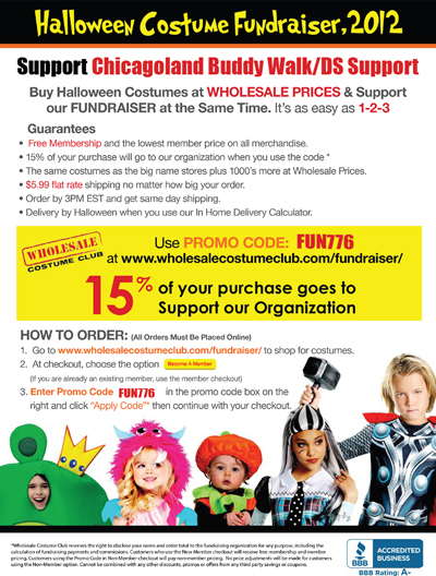 Get your Halloween Costume at a discount and help the Buddy Walk ...